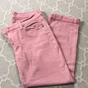 7 for all mankind skinny crop & roll 28